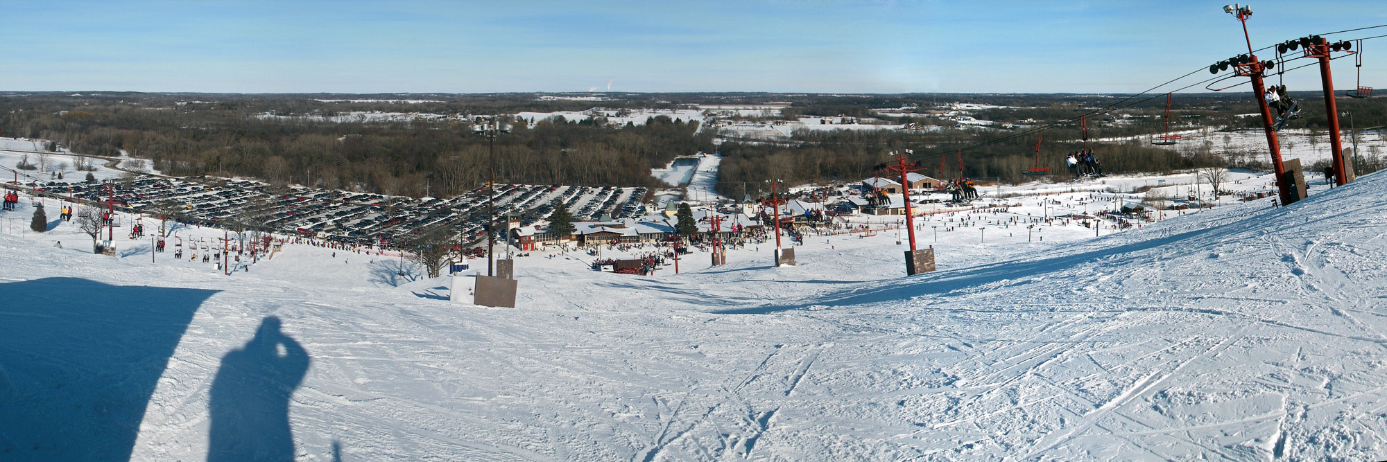 A view of Wilmot Mountain, Wisconsin