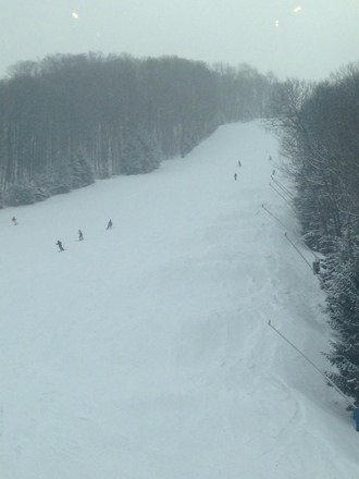 Really great conditions today after a lot of snow!