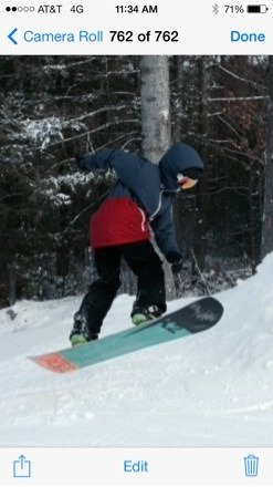 Matt p ripping it up in twisted terrain park New Years day