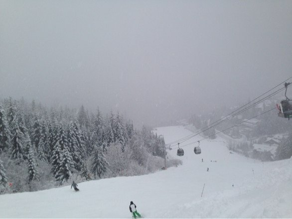 It's not near as bad as most people are saying.  Had great snow all day and its still snowing.