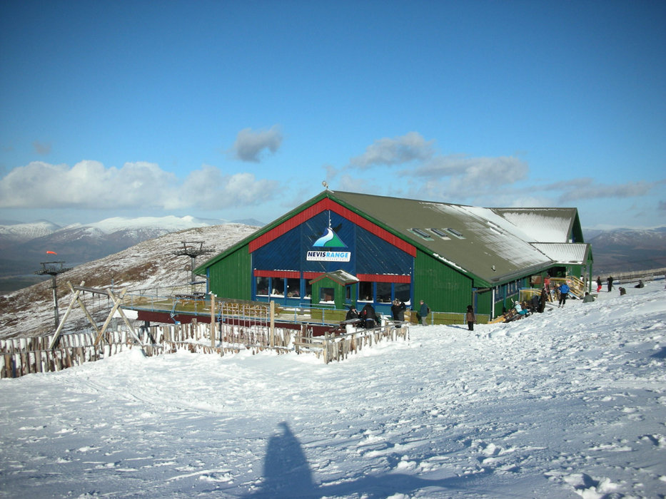 Snowgoose reastaurant and bar at the gondola top station in winter - © Nevis Range