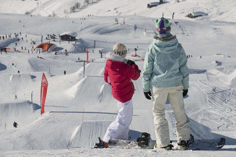 Vue générale du snowpark du Grand Bornand - © P. Lebeau