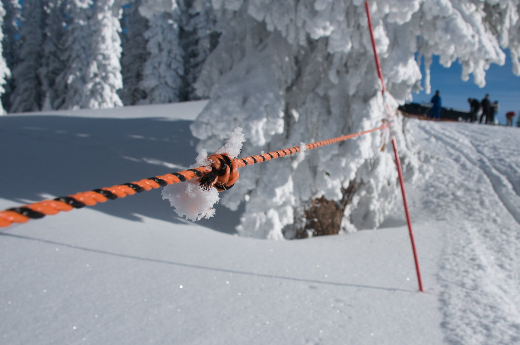Ski resort boundary rope line at Steamboat. - ©Nick Newell/Flickr
