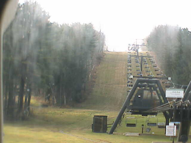 A summer view of chairlifts at Peek 'n Peak Ski Resort, New York
