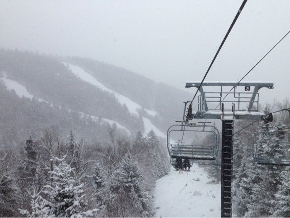 Much better snow than I expected. Great day of skiing at Gore today. New snow and good snowmaking too. Exceeded my expectations, great job Gore staff.