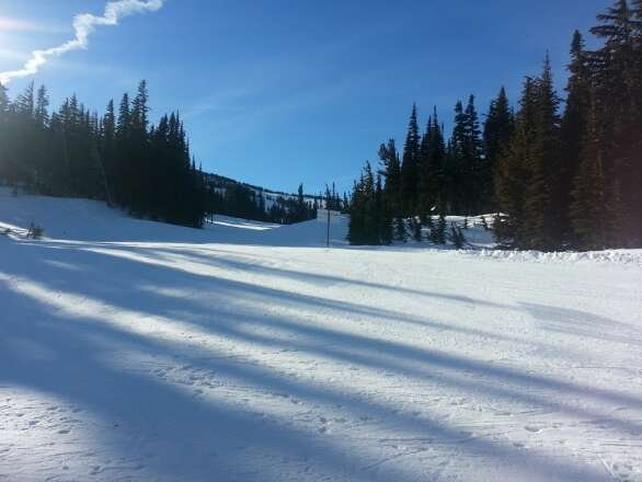 Beautiful spring ski day in January. Groomers fast and fun!  Best day yet this year.