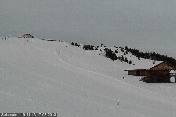 Alpe di Siusi - Durante e dopo l'ultima nevicata del weekend | 18-19 Gen 2014