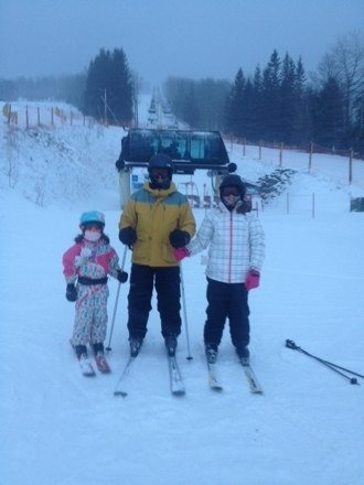 Great day of skiing with my kids.... Let it keep snowing