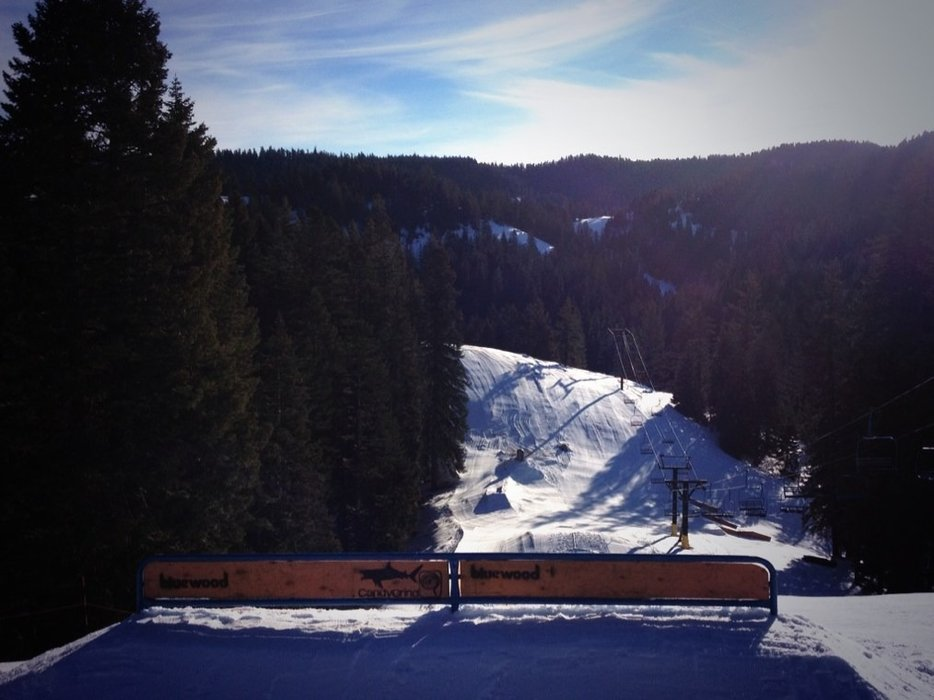 great groomed runs and parks are styling with new top-to-bottom features open for the weekend