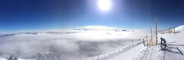 """Yesterday from top of Lone Peak Tram. About 4-5"""" of new powder with fresh tracks all day off of the tram. Frigid temperatures just layer appropriately. Phenomenal day on the mountain yesterday."""