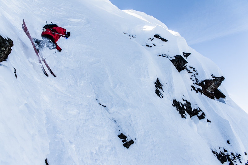 Revelstoke, a 10-letter word for STEEP. Skier Todd Ligare - © Liam Doran