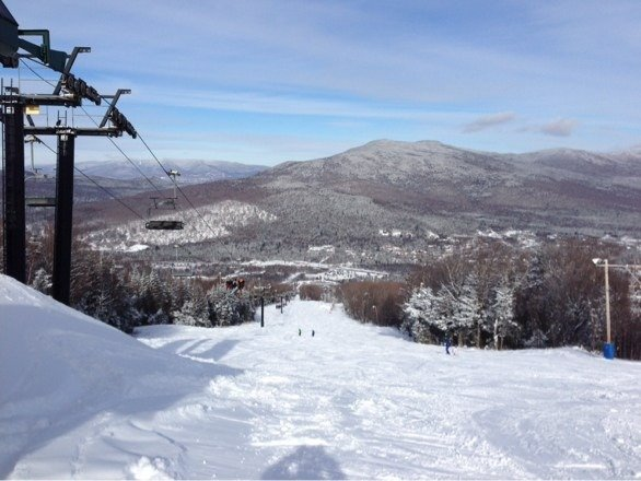 Great conditions today. Lots of powder. No lines!