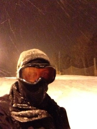 Sick conditions this evening... Hell yah there's a terrain park.  Fresh pow y'all ... Lovin the creek... The best LITTLE hill in the lower north east!