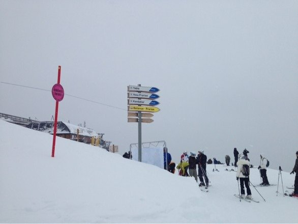 Great snow at les Houches, not too crowded either. Come on!