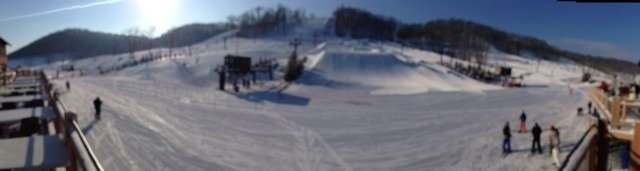 PNS is rockin it today...bluebird day with some pretty awesome curves...