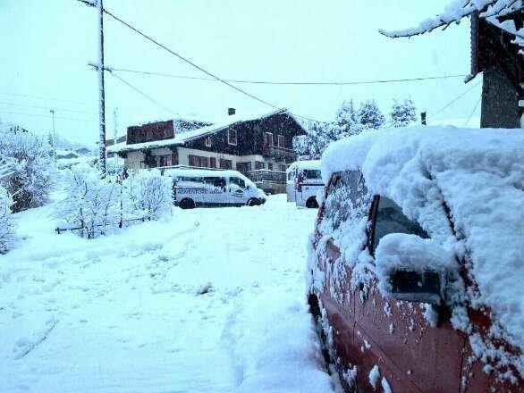Fresh snow all night. Still snowing. Beautiful fresh powder.