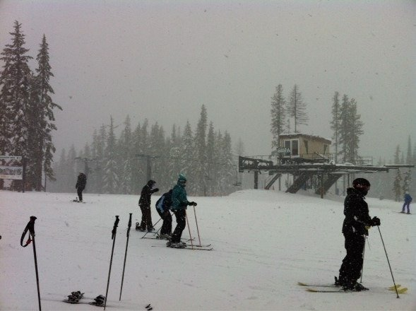 New snow 8 inches.  Wonderful skiing
