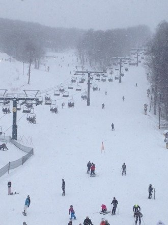 Nice conditions all day. Still snowing and tomorrow should be even better.