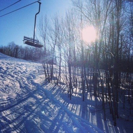 Perfect day, blue skies, warm temps, perfect powder, not crowded, and friendly staff.