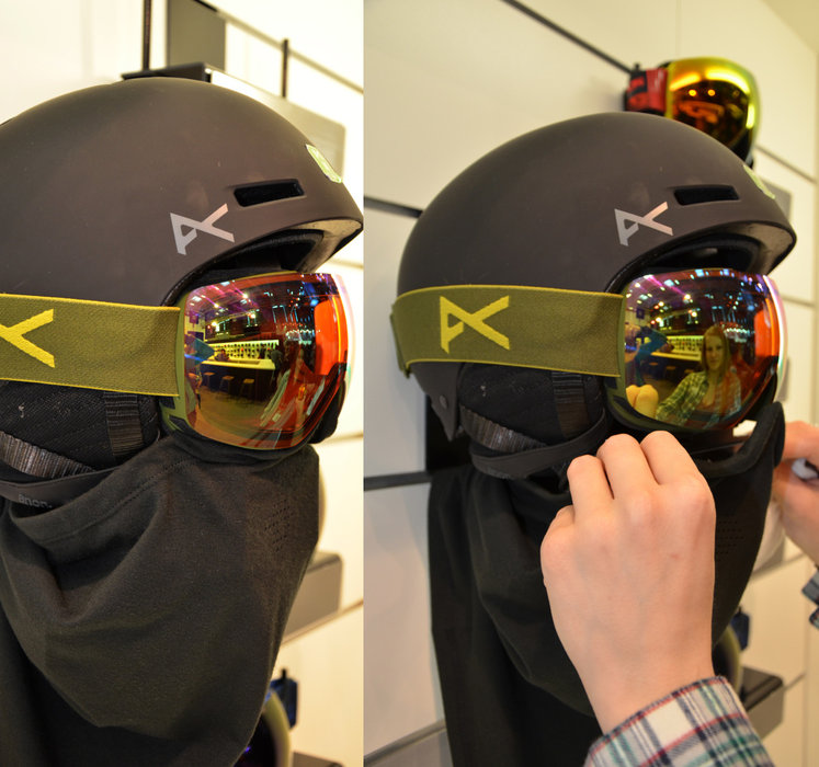 Anon combines Goggle and Beanie - © Skiinfo