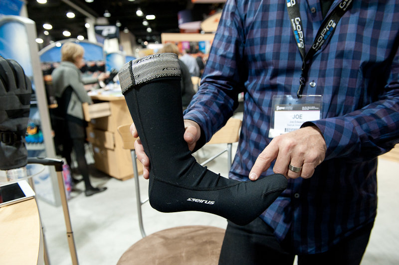 Seirus HeatWave socks have that really cool Dual Stage Heating System, plus strategically placed seams. - © Ashleigh Miller Photography