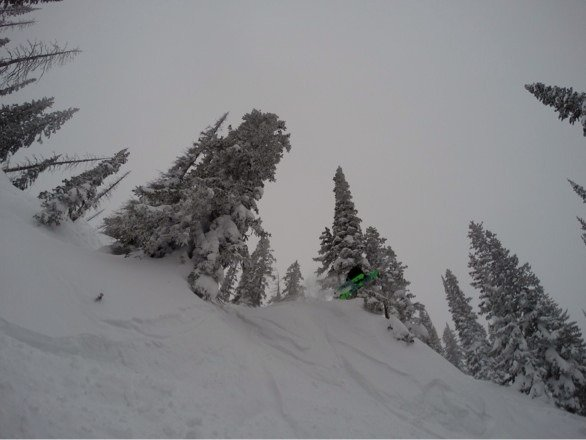 Way deep pow today. Just gotta know where to look......north saint pats