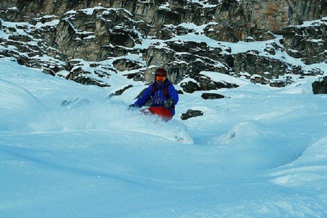 Powder skiing in Sainte Foy Tarentaise, France - ©Gergely Csatari