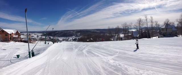 Had an awesome two days. Was there Monday and Tuesday. Not too much powder left, but absolutely no ice!