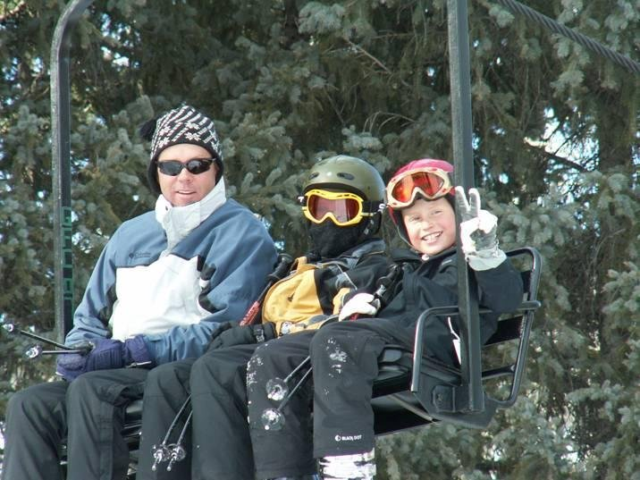 A triple chair at Pajarito, NM.