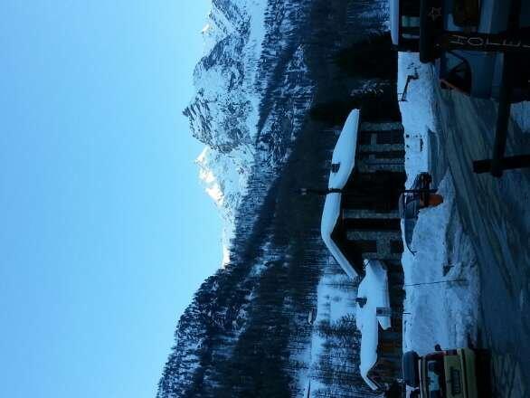 al mattino neve stupenda pomeriggio fa caldo e si scioglie. pericolo valanghe elevato fare attenzione oggi ne sono cadute due molto grosse.