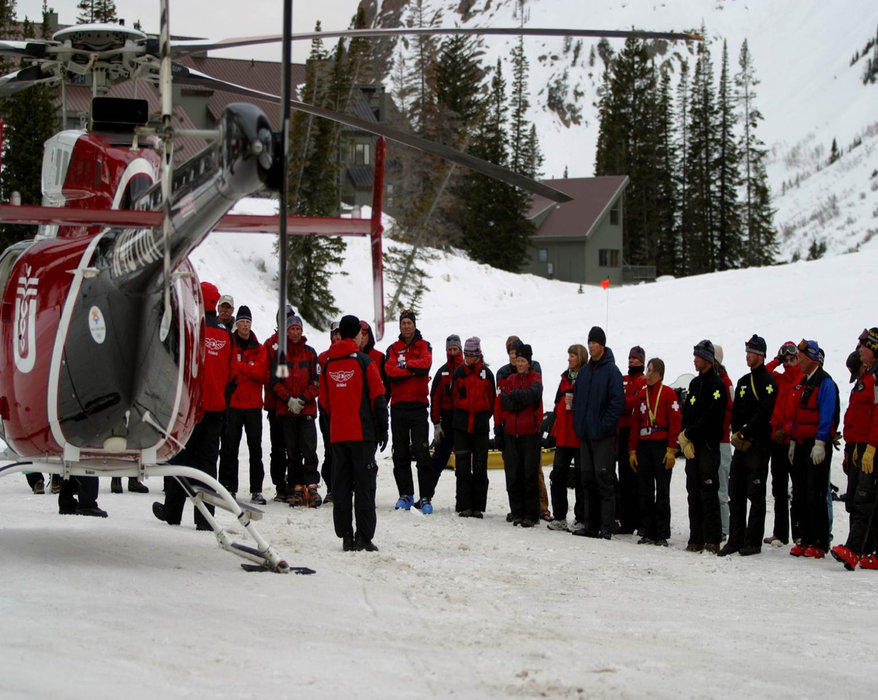 Wasatch Backcountry Rescue partners with AirMed to assist in backcountry skiing and riding accidents. - ©Courtesy of Snowbird Resort