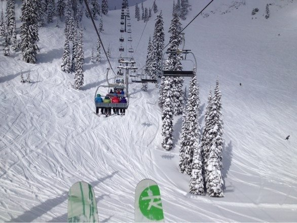 Great day! Awesome snow, excellent coverage (zero rocks anywhere), and tons of fresh powder. Unreal conditions for this time of year at Fernie.