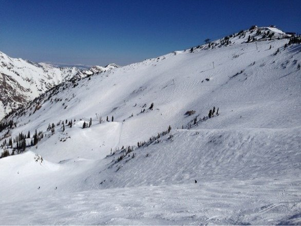 Incredible conditions for late March. Was at Canyons the past two days - what a mistake - should have been at The Bird. Goin back tomorrow. No lift lines today. Snow soft and powdery in most places. Mineral Basin was great.