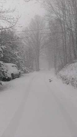 So far today its already snowed a good 5 in and its still coming down heavy.  Going to be a nice spring revival.