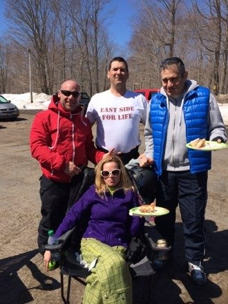 Last day at McCauley Mountain beautiful spring skiing with great friends