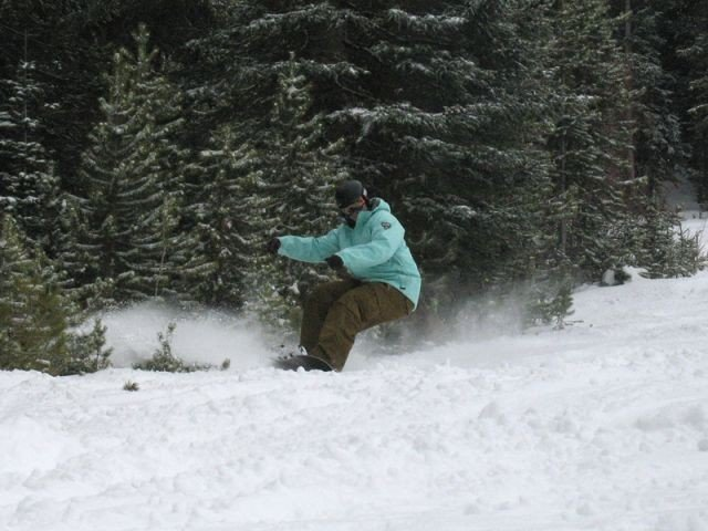 Boarder in Winter Park, CO.