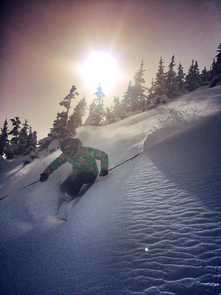 Ingrid Backstrom captures sunshine and powder at Crystal Mountain Resort. - © Crystal Mountain Resort