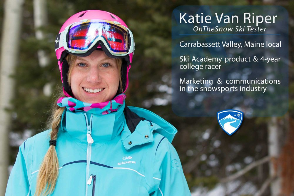 "Katie Van Riper, 26. Your ultimate ski day would need to include what? ""Any day that involves friendly faces, being on the mountain and a little bit of scaring myself on skis.""  - © Cody Downard Photography"