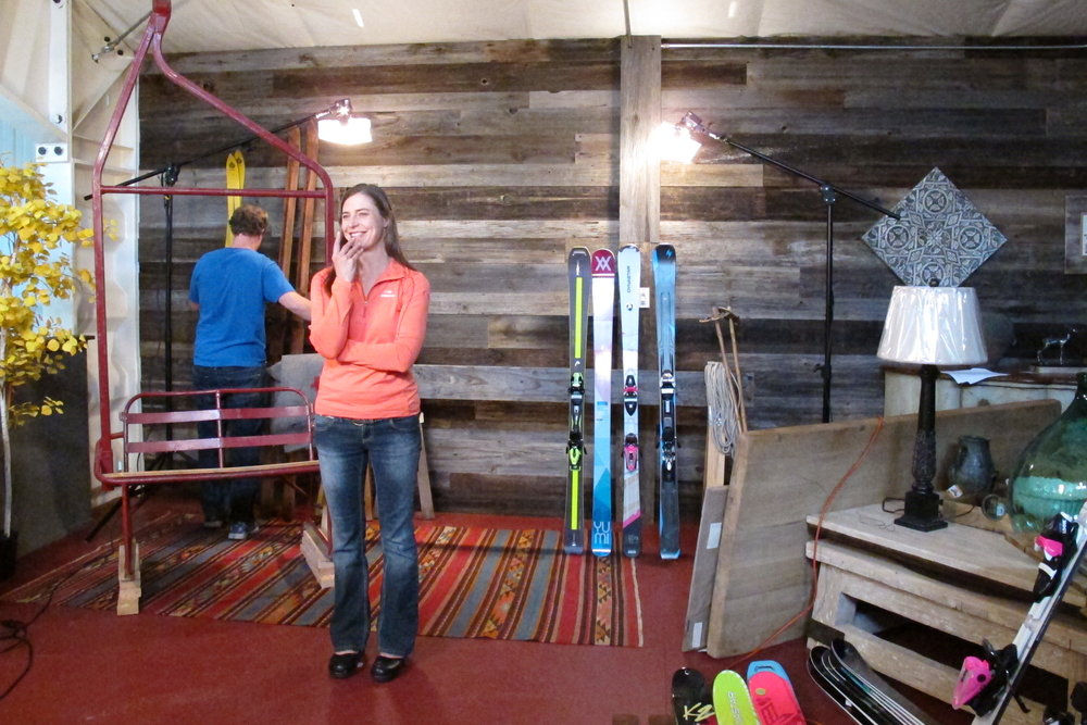 Everything you see is for sale… including the news skis this fall. - © Heather B. Fried