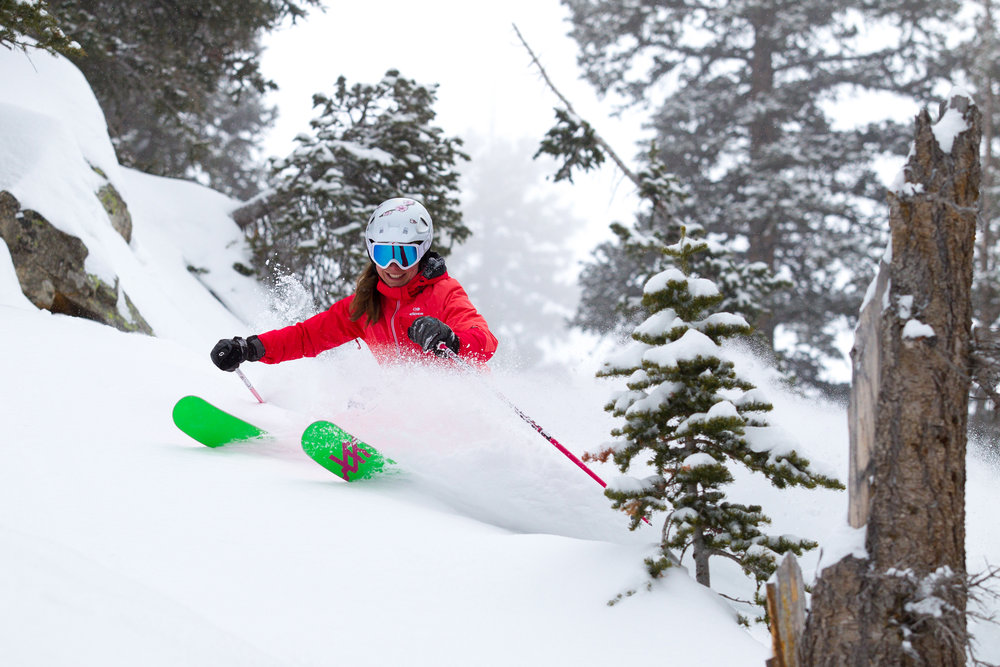 "Ski testers have a ""rough life.""  - © Cody Downard Photography"