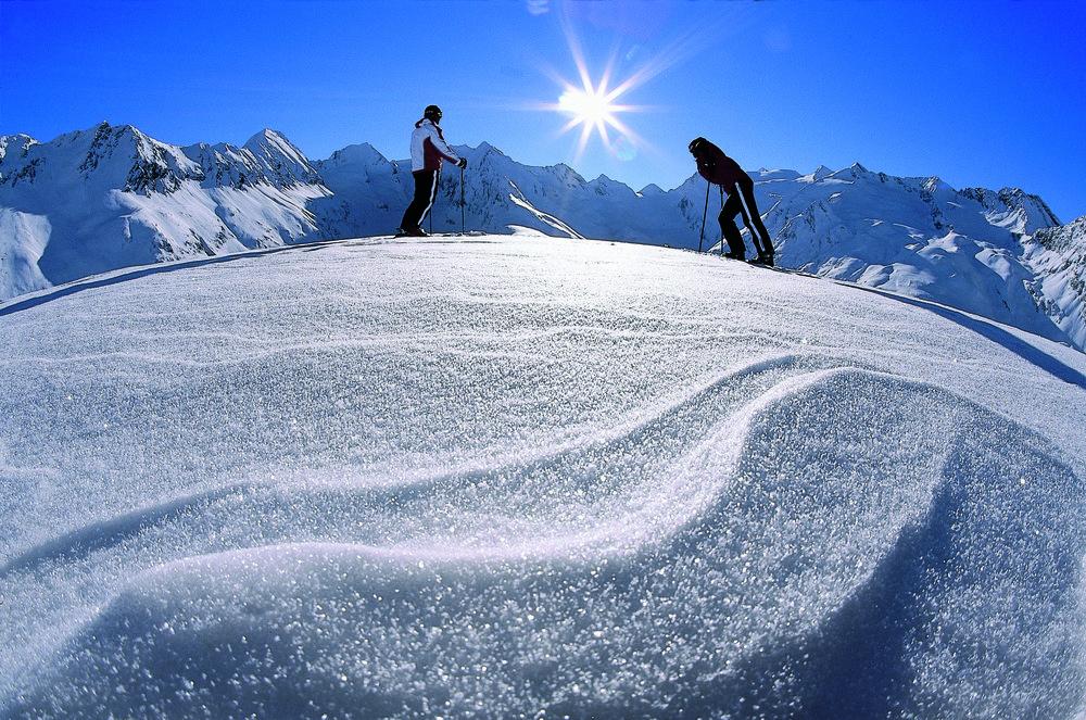 Skiers at Obergurgl, AUT.