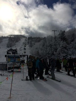 Pretty good for preseason...apparently top to bottom skiing tomorrow!