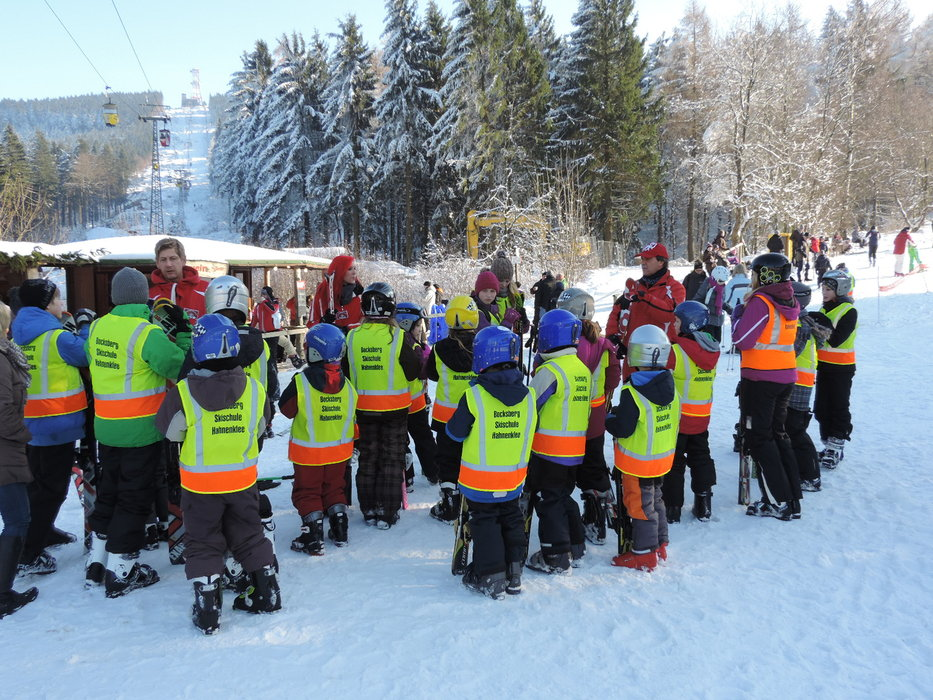 There's a ski school for beginners at the BocksBerg - © Erlebnis BocksBerg