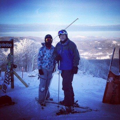 Great Day at Sugar Mountain. Lots of good snow and only a few icy patches. After slopes were groomed, couldn't ask for a better ride. New slope Gunther's Way is awesome but would say it should probably be a black diamond.