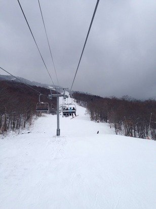 Stowe today is amazing for this early in the season. Lots of light powder.