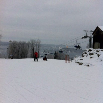 a mild day on the slopes, opening more runs, yeah!