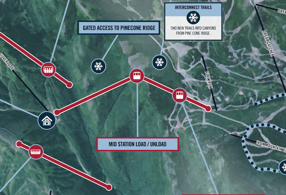 The Interconnect Gondola will link Park City and Canyons via Pine Cone Ridge. - © Vail Resorts