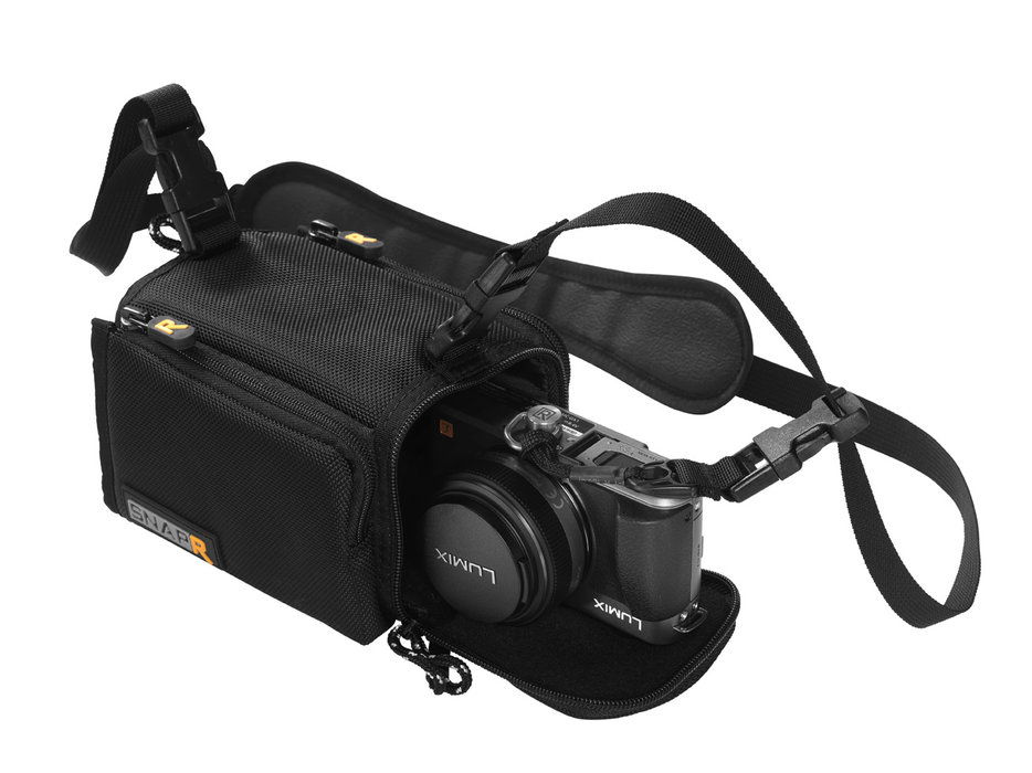 Black Rapid Snapr 20: $40 Protect your point & shoot camera, without having to fumble through your jacket pockets every time you want to snap a shot. The BlackRapid systems offer a secondary strap tied to the bag to ensure your camera doesn't accidentally fly off the chairlift.