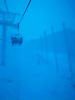 low visibility up top but great snow...once you can see