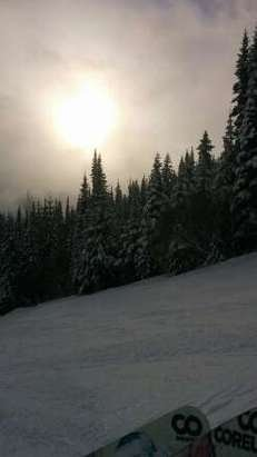 pow pow pow!!!! fresh pow so many places to hit untouched powder. I can't say powder enough. bring your friends NOW